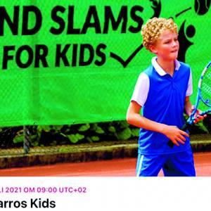 Tennispark Luctor omgebouwd tot Roland Garros