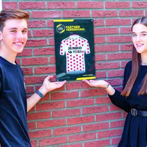 AWV De Zwaluwen is bolletjestrui partnervereniging binnen Team Jumbo-Visma