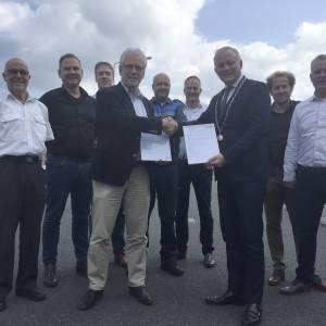 Bedrijvenpark Bornsestraat behaalt voor derde keer Keurmerk Veilig Ondernemen