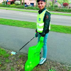 Zakgeld voor Zwerfvuilproject Avedan en gemeente is een succes<br />Schelfhorst en andere wijken weer wat schoner