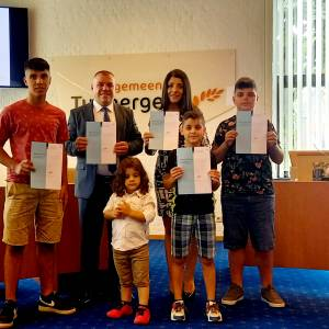 Syrische familie Gerges uit Mariaparochie is trots op nieuwe Nederlandse nationaliteit
