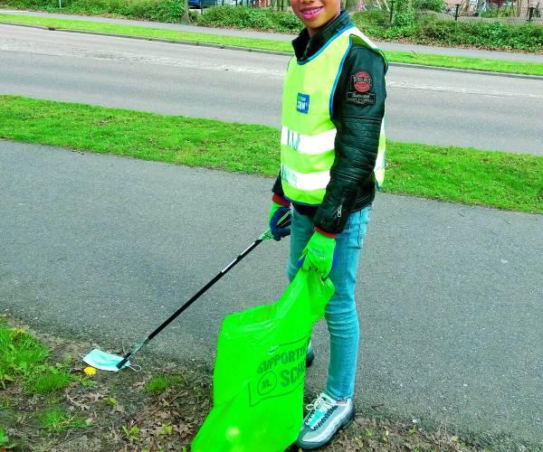 Zakgeld voor Zwerfvuilproject Avedan en gemeente is een succes Schelfhorst en andere wijken weer wat schoner