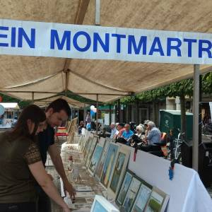 Klein Montmartre op de Kroonmarkt in Almelo